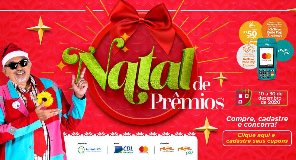 Humorista Falcão apresentando a promoção do Natal de Prêmios 2020